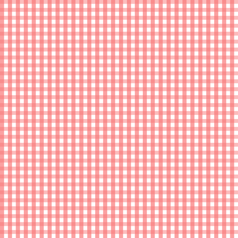 gingham coral fabric by misstiina on Spoonflower - custom fabric