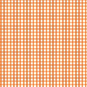 tiny gingham orange
