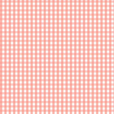 gingham peach fabric by misstiina on Spoonflower - custom fabric