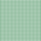 gingham kelly green