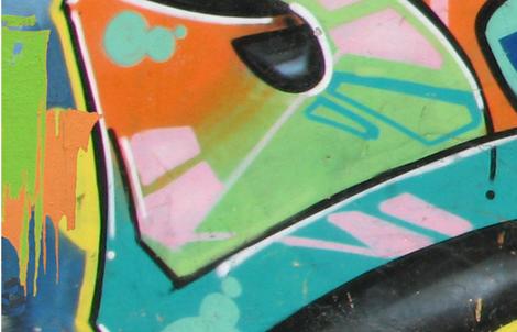Graffitti Wall  1 Left fabric by mtl_design on Spoonflower - custom fabric