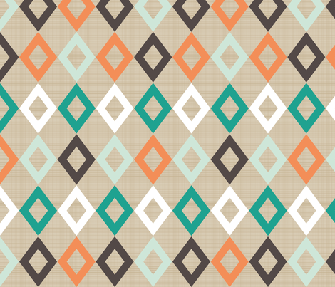 tribal diamonds fabric by mrshervi on Spoonflower - custom fabric