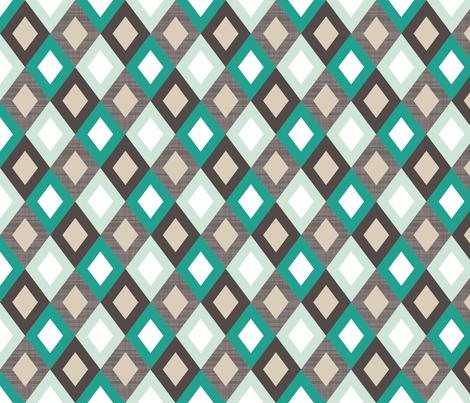 emerald linen diamonds fabric by mrshervi on Spoonflower - custom fabric