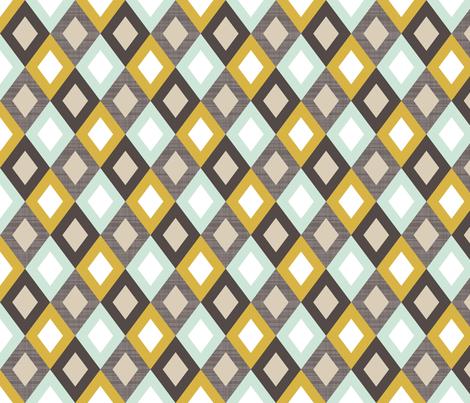 golden linen diamonds fabric by mrshervi on Spoonflower - custom fabric