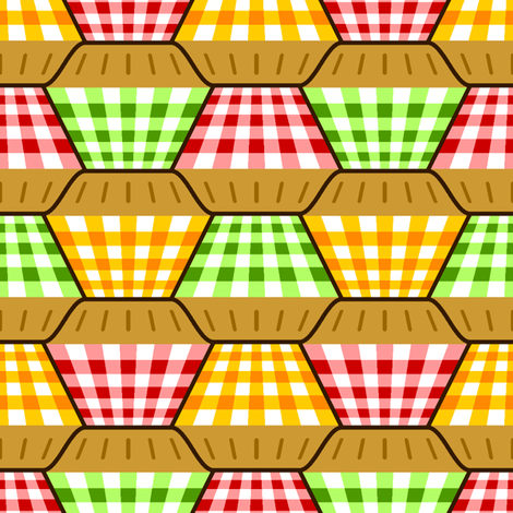 pies - deep-filled fabric by sef on Spoonflower - custom fabric