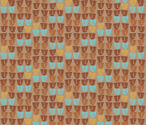 Vessels on Linen fabric by kcs on Spoonflower - custom fabric