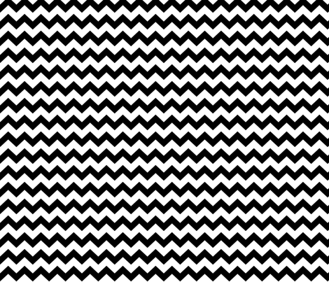 black chevron i think i heart u fabric by misstiina on Spoonflower - custom fabric