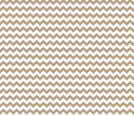 tan chevron i think i heart u fabric by misstiina on Spoonflower - custom fabric