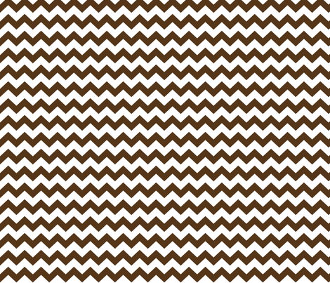 brown chevron i think i heart u fabric by misstiina on Spoonflower - custom fabric