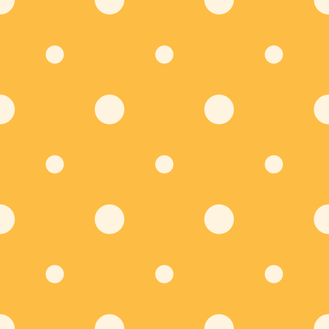 Orange Blossom Dots fabric by audsbodkin on Spoonflower - custom fabric