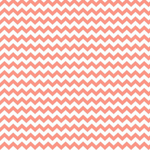 peach chevron i think i heart u