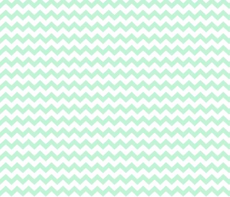 ice mint green chevron i think i heart u fabric by misstiina on Spoonflower - custom fabric