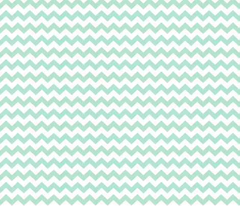mint green chevron i think i heart u fabric by misstiina on Spoonflower - custom fabric