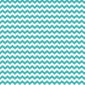 teal chevron i think i heart u