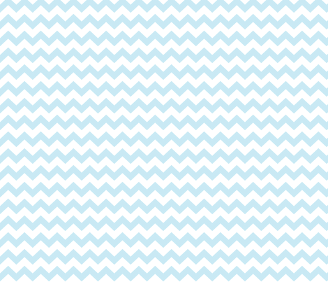 ice blue chevron i think i heart u fabric by misstiina on Spoonflower - custom fabric