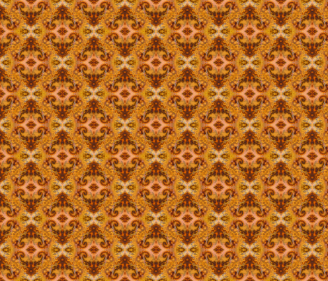Gold Mirage - Damask fabric by elramsay on Spoonflower - custom fabric