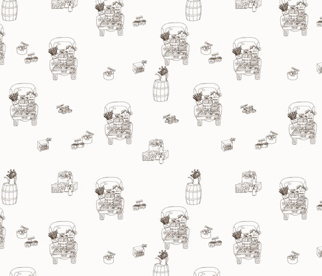 Vintage Farm Trucks fabric by radianthomestudio on Spoonflower - custom fabric