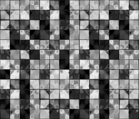 Black Plus White Faux Tile © Gingezel™ 2013 fabric by gingezel on Spoonflower - custom fabric