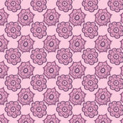 Paisley flowers pink