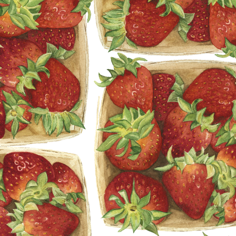 strawberries fabric by jillbyers on Spoonflower - custom fabric