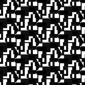 Black and White Techie Pattern © Gingezel™ 2012