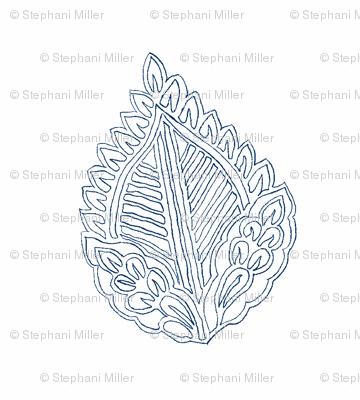 Leaf Outline Indigo