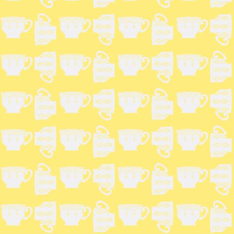 Breakfast tea ©2012 Jill Bull fabric by palmrowprints on Spoonflower - custom fabric