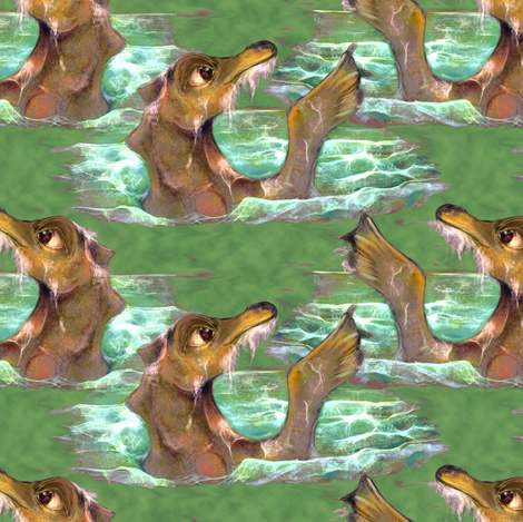 Baby seadragon fabric by eclectic_house on Spoonflower - custom fabric