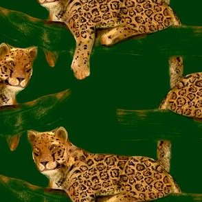 Jaguar on green