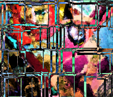 Through Shattered Glass fabric by anniedeb on Spoonflower - custom fabric