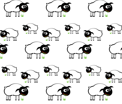 SHEEP fabric by bluevelvet on Spoonflower - custom fabric