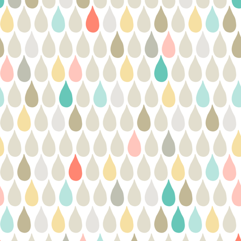 Happy Drops fabric by verysarie on Spoonflower - custom fabric