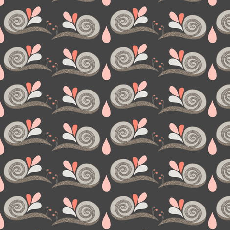 Summer Snails fabric by verysarie on Spoonflower - custom fabric