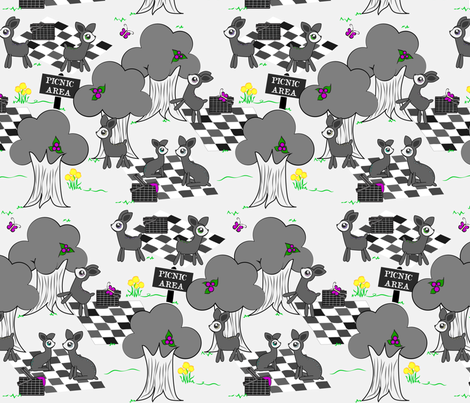 Deer Family Picnic fabric by yourfriendamy on Spoonflower - custom fabric