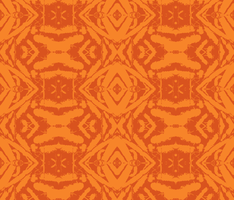 carrot-pileup-orange fabric by tangledvinestudio on Spoonflower - custom fabric