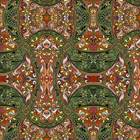 Aladdin, Let Me See That Lamp fabric by edsel2084 on Spoonflower - custom fabric