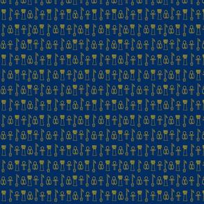 Egyptian Gold on Lapis