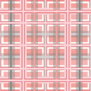 Pink & Gray Plaid Design