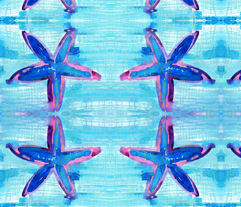 cestlaviv_starfish6  fabric by cest_la_viv on Spoonflower - custom fabric