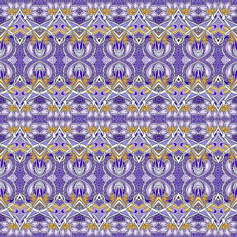 Picking Purple Posies horizontal stripe fabric by edsel2084 on Spoonflower - custom fabric