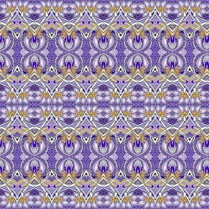 Picking Purple Posies horizontal stripe
