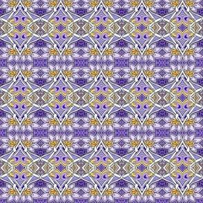 Picking Purple Posies starry version