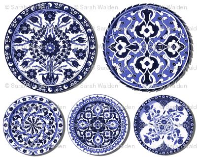 Trompe l'Oeil Plates ~ Blue & White
