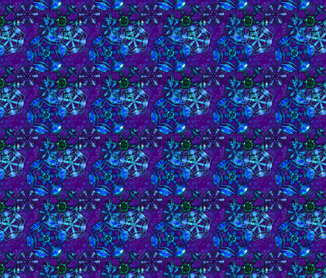Snowflakes On Violet fabric by will_la_puerta on Spoonflower - custom fabric