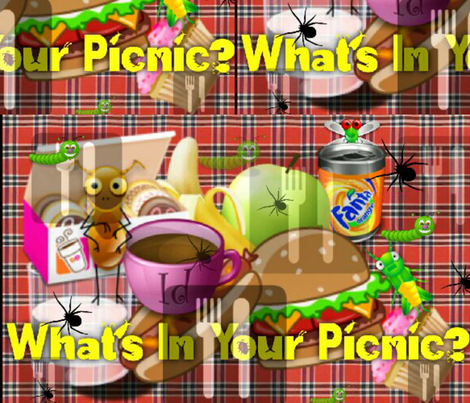 What's In Your Picnic? fabric by charldia on Spoonflower - custom fabric