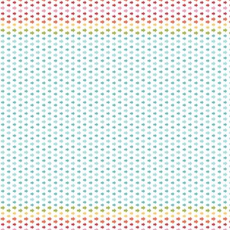 {everyday} rainbow arrows fabric by misstiina on Spoonflower - custom fabric
