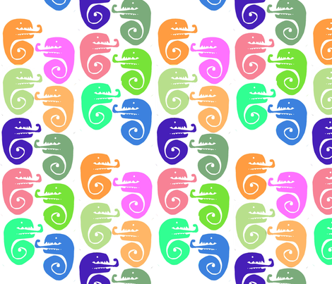 Sea Serpents & Negative Space fabric by boris_thumbkin on Spoonflower - custom fabric