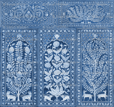 Nonsuch Palace Wood Panels ~ Blue & White