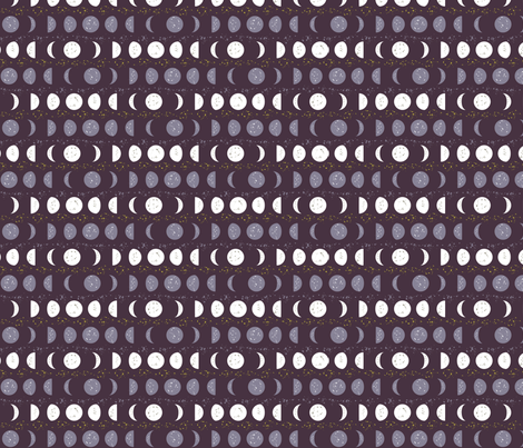 Midnight Moons fabric by hmooreart on Spoonflower - custom fabric