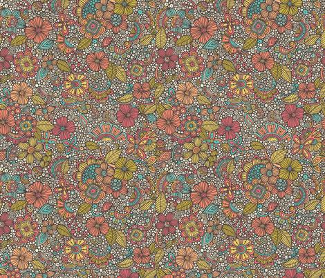Garden of doodles fabric by valentinaharper on Spoonflower - custom fabric